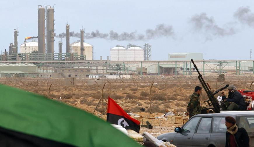Des installations pétrolières en Libye. Crédits : Sources
