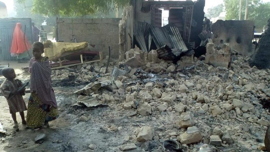 Des dégâts au Nigeria après un attentat. Illustration. Photo : Sources