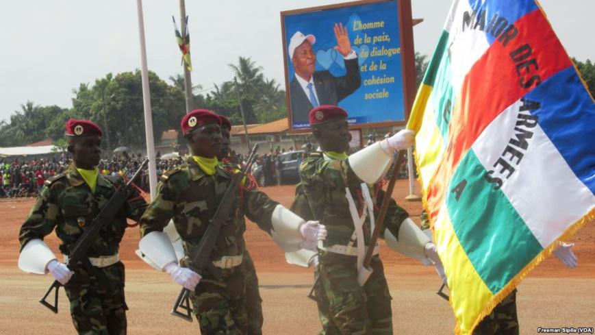Parade militaire des FACA à Bangui en décembre 2016. Crédits photo : Freeman Sipila (VOA)