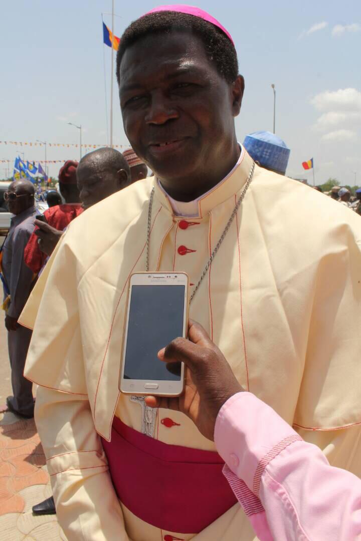 L'archevêque de la ville de N'Djamena, Monseigneur Edmond Djitengar. Alwihda Info