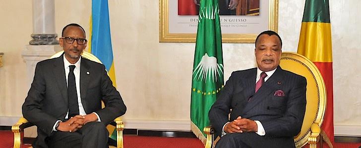 Paul Kagamé et Denis Sassou N'Guesso (photo d'archives)