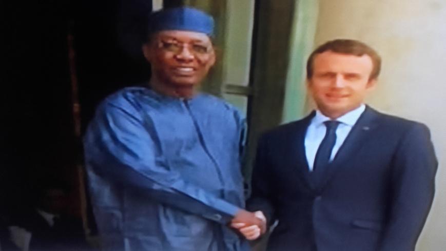 Le Président tchadien reçu à l'Elysée par Macron