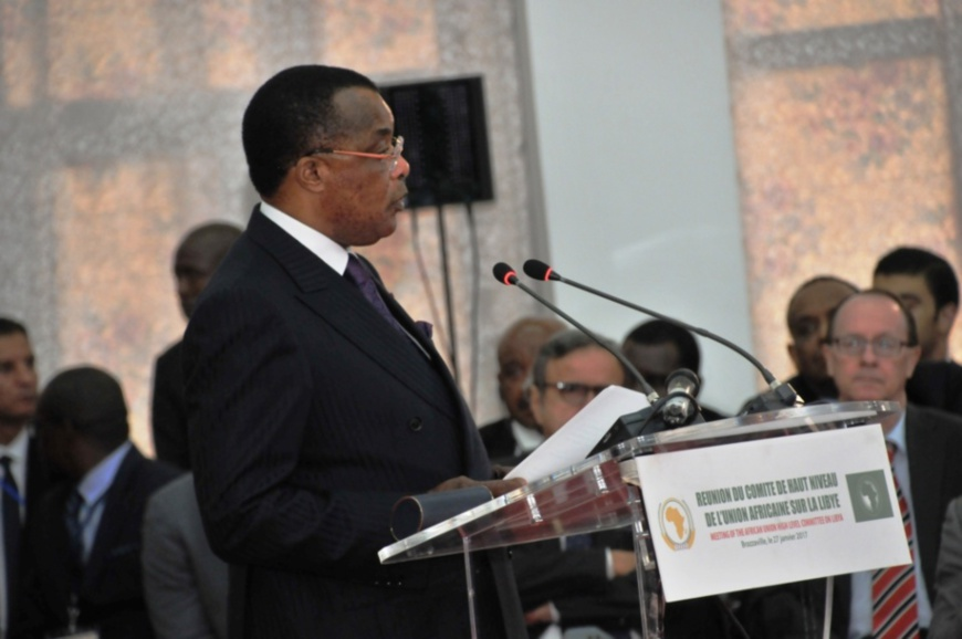 Denis Sassou N'Guesso à l'ouverture de la réunion de janvier dernier à Brazzaville