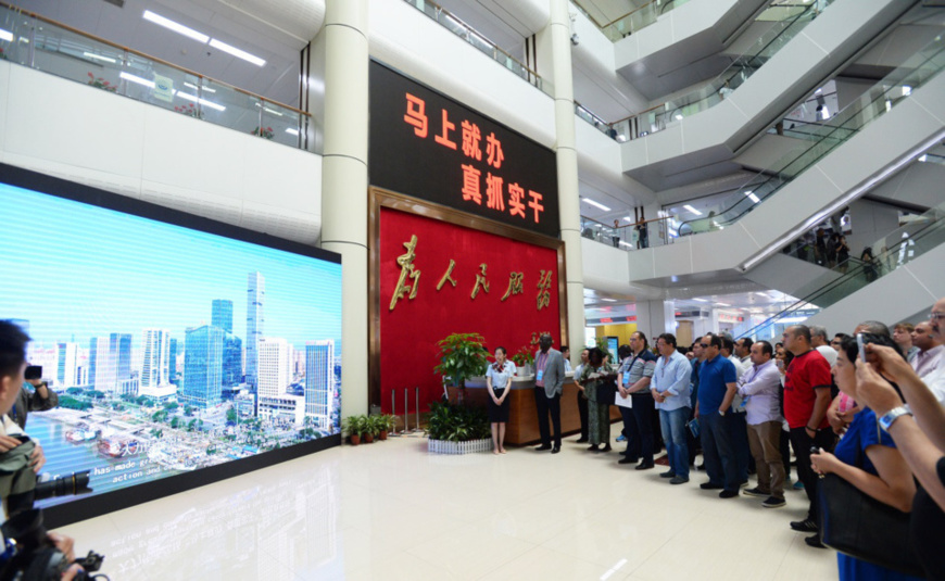 Guests attend the BRICS Political Parties, Think-tanks and Civil Society Organizations Forum at the public service center in Fuzhou, the capital city of Southeast China's Fujian Province on June 12. The three-day forum started June 10 and was hosted by the international department of the Communist Party of China (CPC) Central Committee. (Photo: International department of CPC Central Committee)