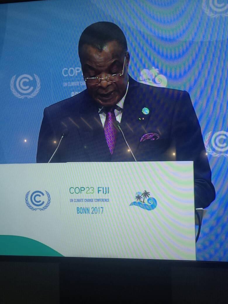 Denis Sassou N'Guesso à la Cop 23 à Bonn : un plaidoyer pour les écosystèmes fragiles du bassin du Congo