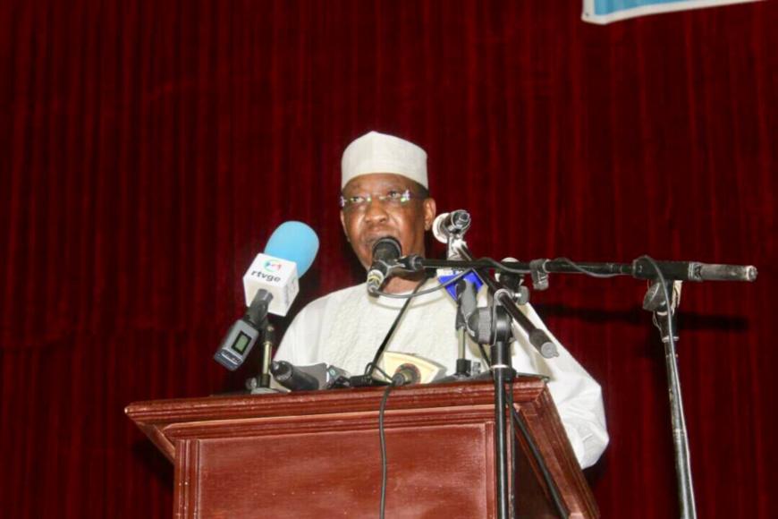 Idriss Déby aujourd'hui lors de son discours pour la journée de prière pour la paix. Alwihda Info