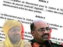 Dr Kalhil Ibrahim (Leader MJE), Omar El Béchir (Président du Soudan) / Photo Alwihda.