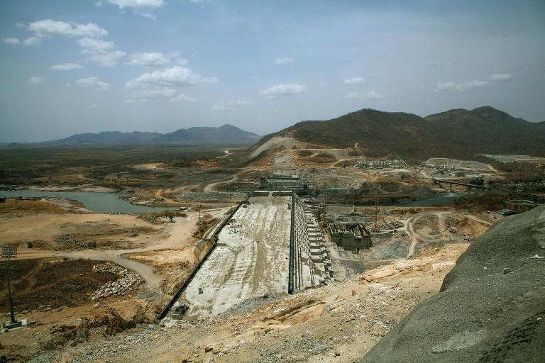 Le barrage de la Renaissance en construction sur le Nil bleu par l'Ethiopie le 31 mars 2015 / © AFP/Archives / ZACHARIAS ABUBEKER