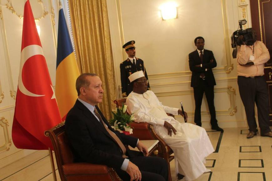Le président Idriss Déby et son homologue turc Recep Tayyip Erdogan. Alwihda Info