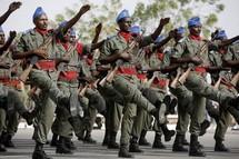 Des soldats djiboutien lors de la parade du 27 Juin 2007.