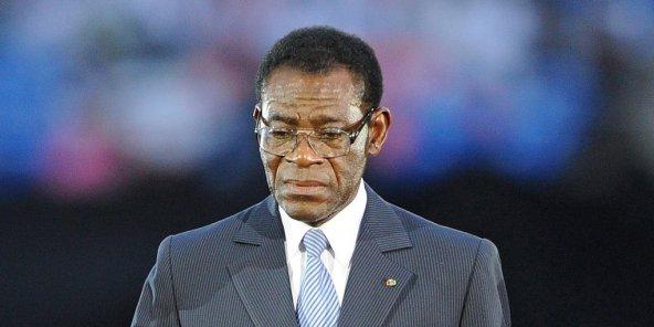 Le président équato-guinéen Teodoro Obiang Nguema Mbasogo, le 12 février 2012 à Libreville, au Gabon © FRANCK FIFE/AFP