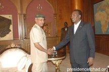 Le Colonel Ahmed Mohammed et le président tchadien Idriss Déby Itno / Photo PDLR