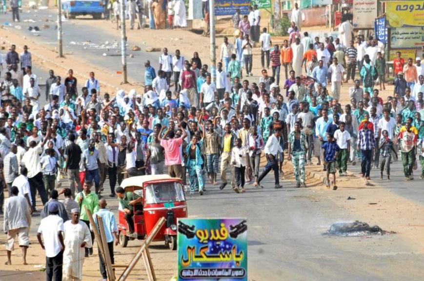 Manifestation à Khartoum, au Soudan, le 25 septembre 2013 Photo -. AFP
