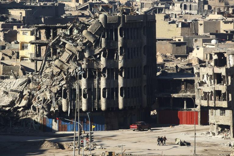 Des immeubles détruits à Mossoul, le 8 janvier 2018, en Irak / © AFP/Archives / AHMAD AL-RUBAYE