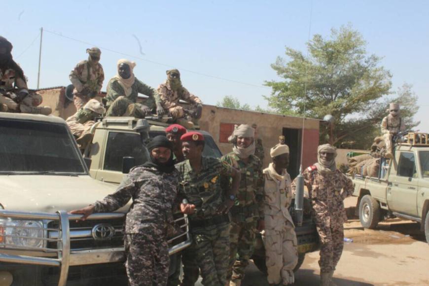 Des soldats de la force d'appui aux régies financières à N'Djamena. Alwihda Info