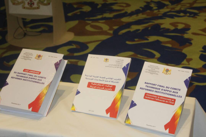 Le rapport final du comité technique d'appui aux réformes institutionnelles lors de sa remise officielle. Alwihda Info/D.W.
