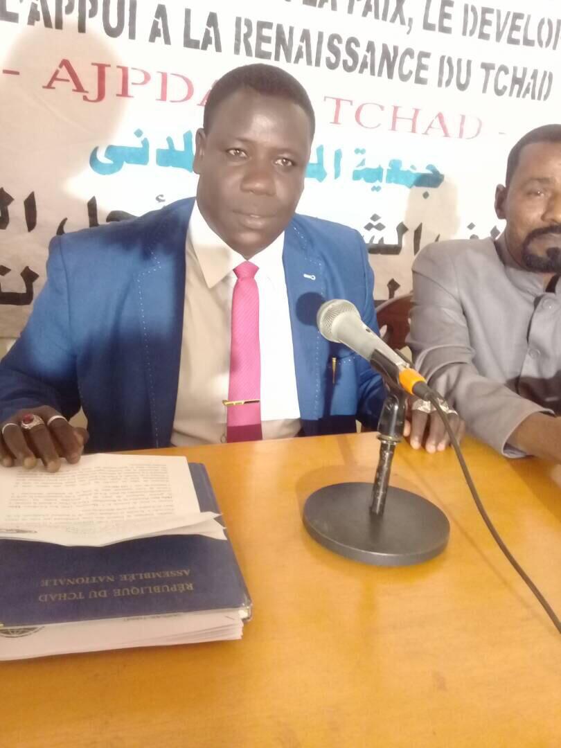 Le président de l'Alliance des Jeunes pour la Paix, le Développement et l'Appui à la Renaissance du Tchad (AJPDAR), Mahamat El-Mahadi Abderamane. Alwihda Info/B.H.