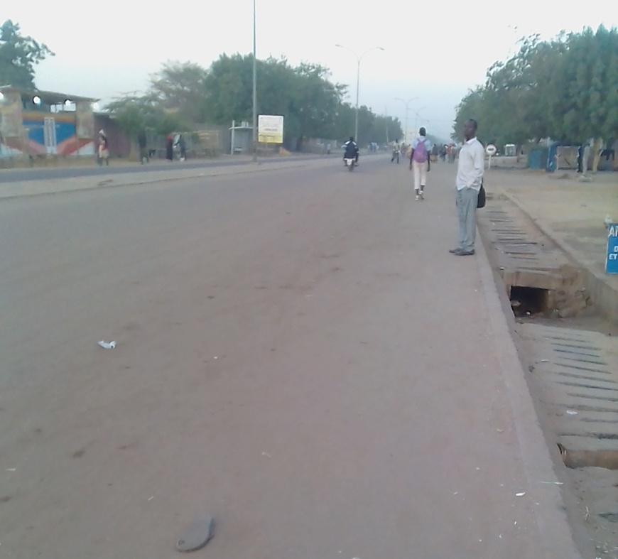 Une rue de N'Djamena vide ce lundi 22 janvier 2018. Alwihda Info