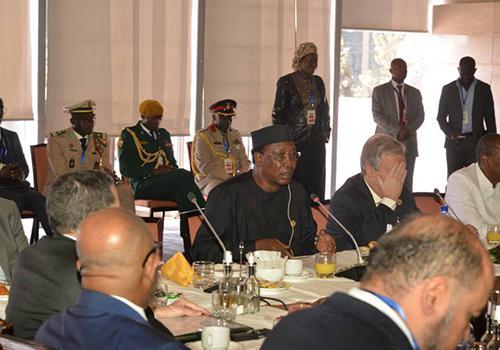 Le président tchadien s'exprimant lors de la séance de huis-clos de la 30ème session du sommet sur la réforme institutionnelle de l'Union Africaine.