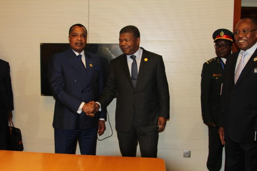 Denis Sassou N'Guesso et le le président Joao Lourenço d'Angola