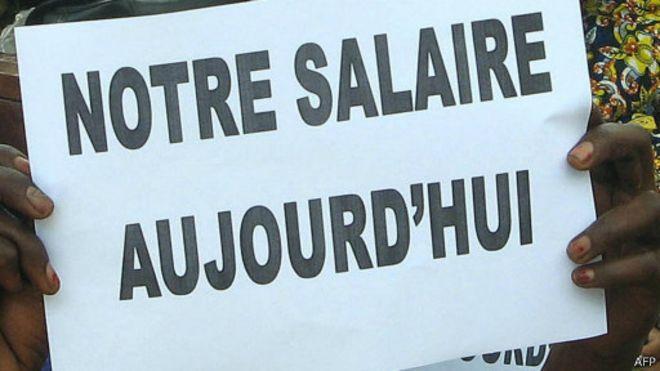 Manifestations des enseignants tchadiens pour réclamer le paiement de salaires le 21 juin 2007 (archives). Crédits : AFP