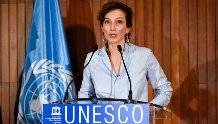 La Directrice générale de l'UNESCO, Audrey Azoulay. Crédits photo : DR
