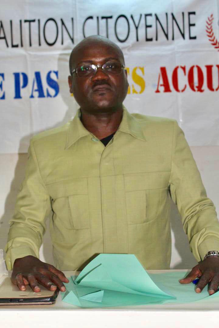 Le président de la Coalition « Touche Pas À Mes Acquis », Mahamat Digadimbaye. Alwihda Info