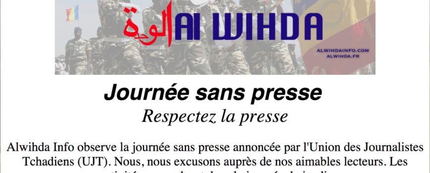 capture d'écran de la Une du site d'information Alwhida Info ce mercredi 21 février