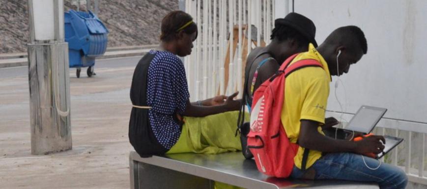 Des internautes en RDC. Crédits photo : DR