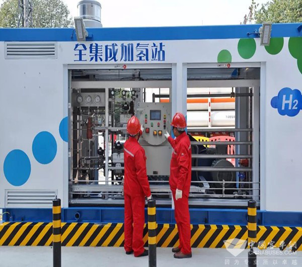 The first hydrogen station in Sichuan province, and also the first one in southwest China, is put into use. (Photo from chinabuses.com)