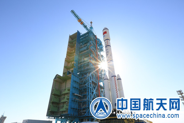 The Long March-2F carrier rocket that was used to carry China's second space lab, Tiangong-2. (Photo from spacechina.com)