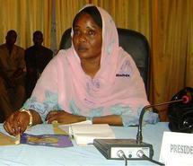 Mme Mariam Altahir , Secrétaire d'Etat et SG du MPS de la commune de N'Djaména.