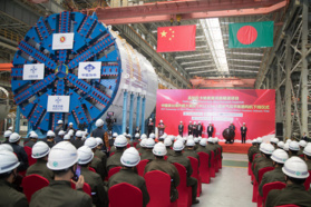 China to export largest tunneling machine to Bangladesh