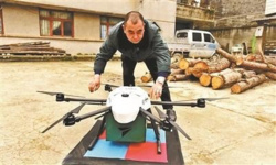 Drone delivery makes post services easier in China's remote regions