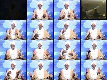 Hassan Al Turabi sur les antennes d'une chaine de télévison.