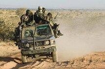 Une troupe militaire du MJE (Mouvement pour la Justice et l'Egalité), Darfour (Soudan).