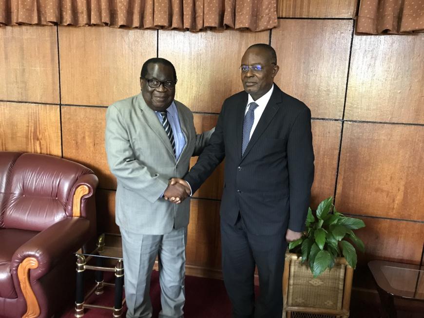 (De gauche à droite): L'Honorable Dr. Goodall Gondwe, ministre des Finances du Malawi et Dr. Ini Urua, vice-président principal, Relations pays et investisseurs de l'AFC