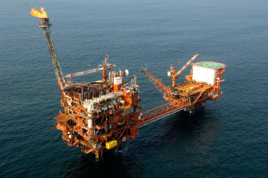 Plateforme pétrolière au Congo.