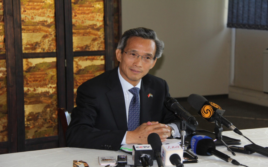 Chinese Ambassador to South Africa Lin Songtian. (Photo by Li Zhiwei from People's Daily)