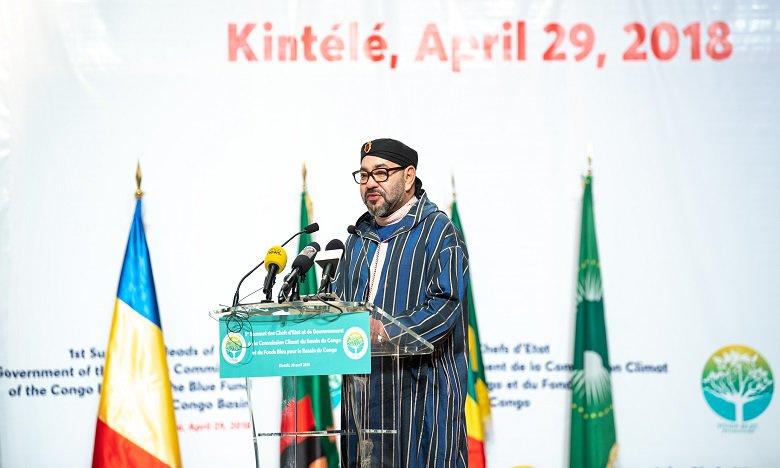 Commission Climat et du Fonds Bleu du Bassin du Congo à Brazzaville : Le Roi Mohammed VI, modèle d'engagement en faveur de la lutte contre les changements climatiques