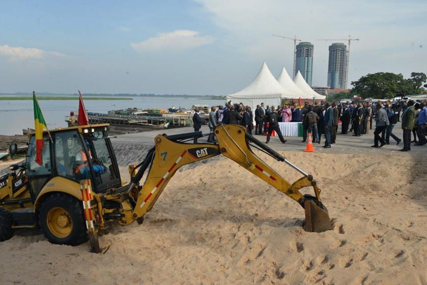 Une vue partielle du site ou sera construit le port aménagé de Yoro.