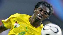 Le joueur Adebayor de la séléction togolaise.