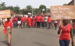 Marche du CAP 2015 à Atakpamé pour dénoncer la violence et l'impunité du sinistre Major Kouloum | Capture d'écran : LeTogovi