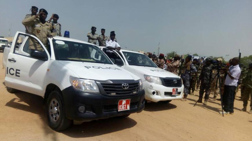 Alwihda Info/D.H. Des policiers au Tchad. Alwihda Info/D.H.