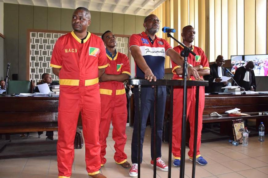 Les quatre co-accusés au procès Jean Martin Mbemba.