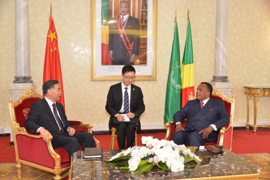 Denis Sassou N'Guesso et Wang Yang, au cours de leur échange.