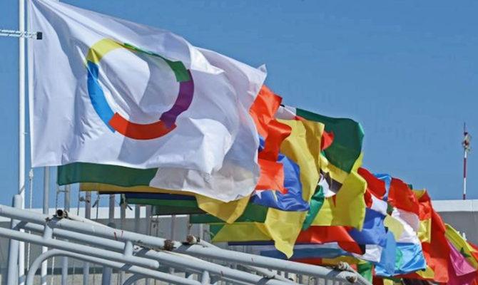Le drapeau de l'OIF. Crédits photo : DR