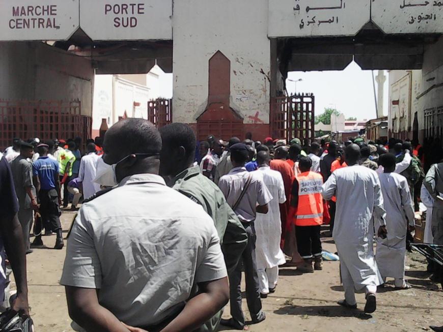Le grand marché de N'Djamena. Crédits : Alwihda Info
