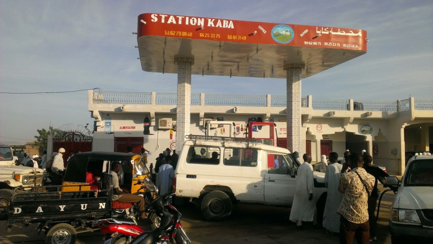 Illustration. Une station-service à N'Djamena. Photo : Alwihda Info