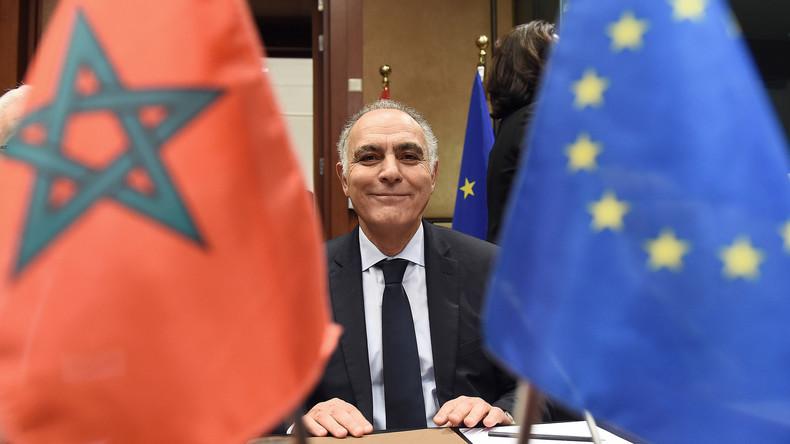Le ministre de Affaires étrangères marocain Salaheddine Mezouar lors d'une réunion du conseil UE-Maroc à Bruxelles en décembre 2015.  EMMANUEL DUNAND Source: AFP